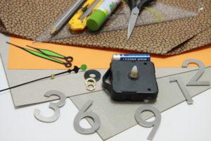 Materialien und Werkzeuge deiner DIY Wanduhr